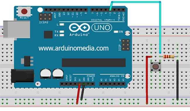 arduino-ile-buton-bağlantısı-nasıl-yapılır