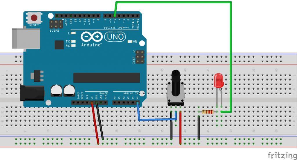 arduino-mblock-potansiyometre-ile-led-parlaklık-kontrolü