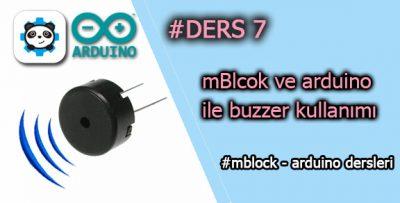 Mblock ve arduino ile buzzer kullanımı