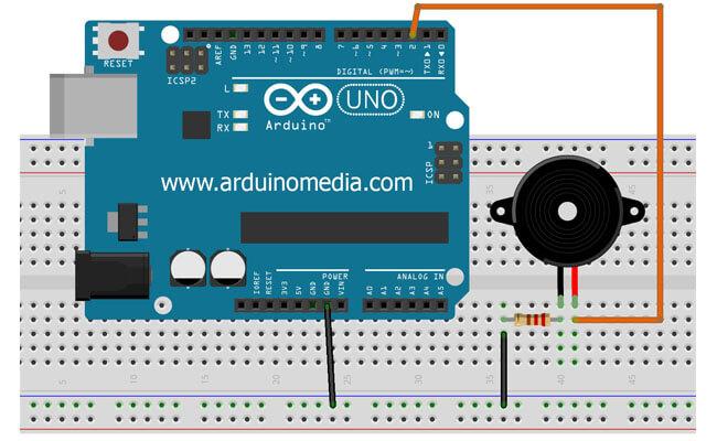 arduino-ile-buzzer-bağlantısı