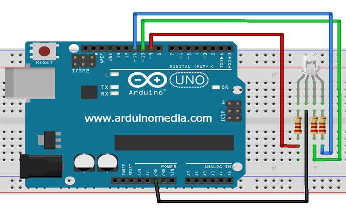 RGB-led-arduino-baglanti-semasi-ortak-katot