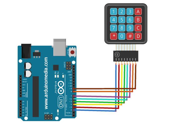 arduino-ile-4x4-keypad-bağlantı-şeması