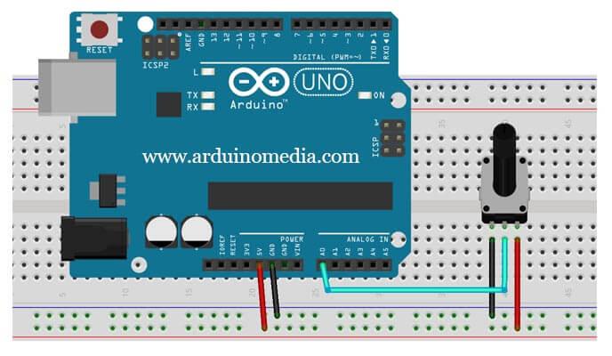 arduino-ile-potansiyometre-bağlantısı-nasıl-yapılır