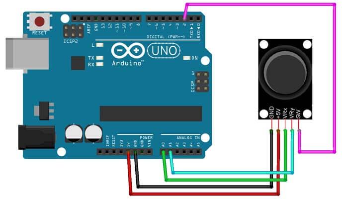 arduino-joystick-bağlantı-devresi