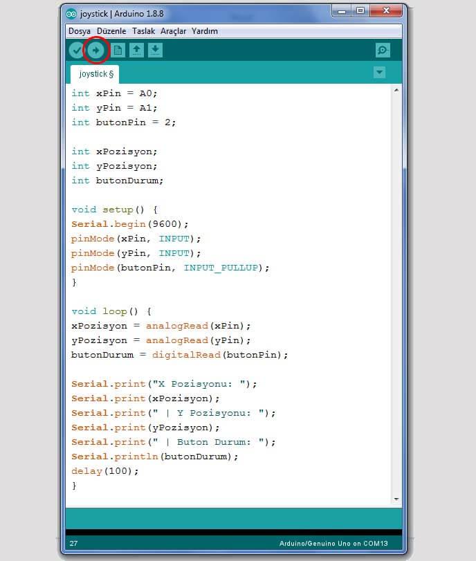 arduino-joystick-kodları