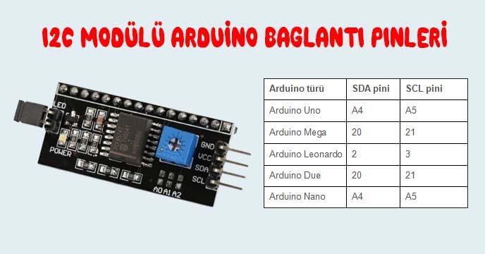 i2c-modulu-arduino-baglanti-pinleri