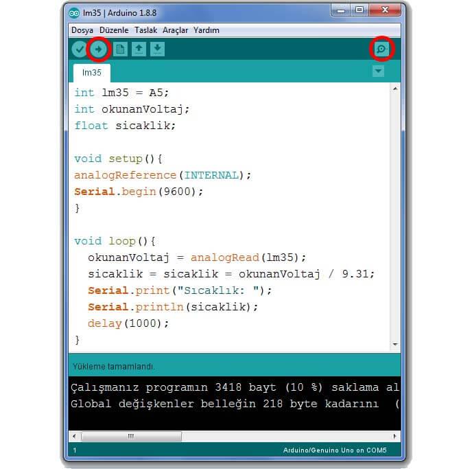lm35-arduino-kodları